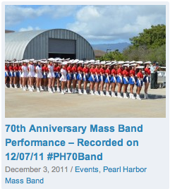 70th Anniversary Mass Band Performance - Recorded on 12/07/11 #PH70Band: http://www.channel808.tv/massband/